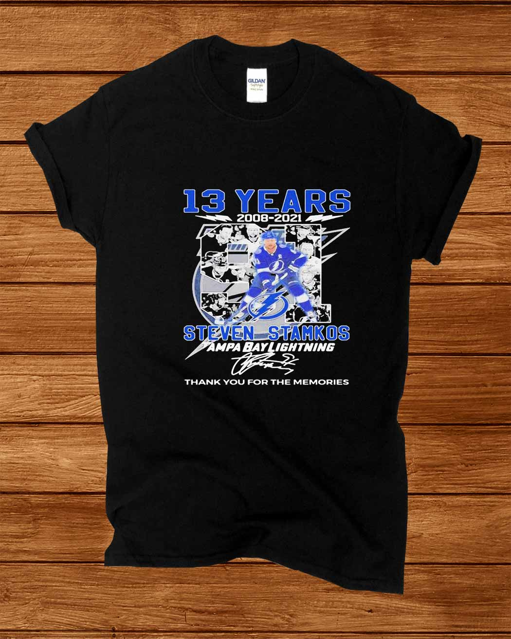 13 Years 2008 2021 Steven Stamkos Tampa Bay Lightning Thank You For The Memories Signature Shirt