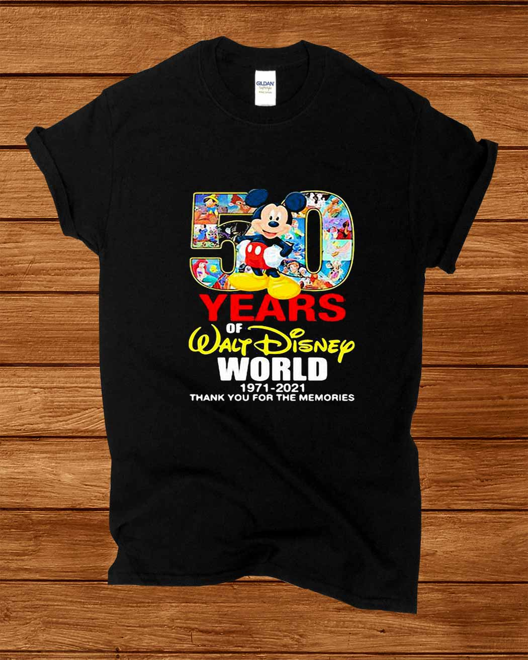 50 Years Of Walt Disney World 1971 2021 Thank You For The Memories Shirt