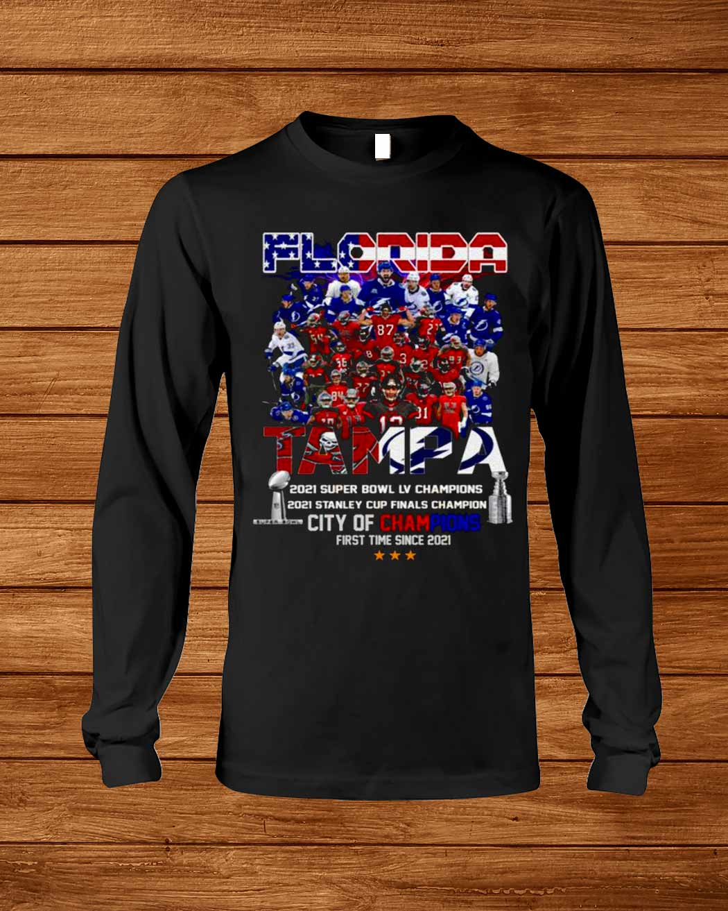 Florida Teams Sports Tampa Lightning And Buccaneers City Of Champions Since 2020 2021 Shirt