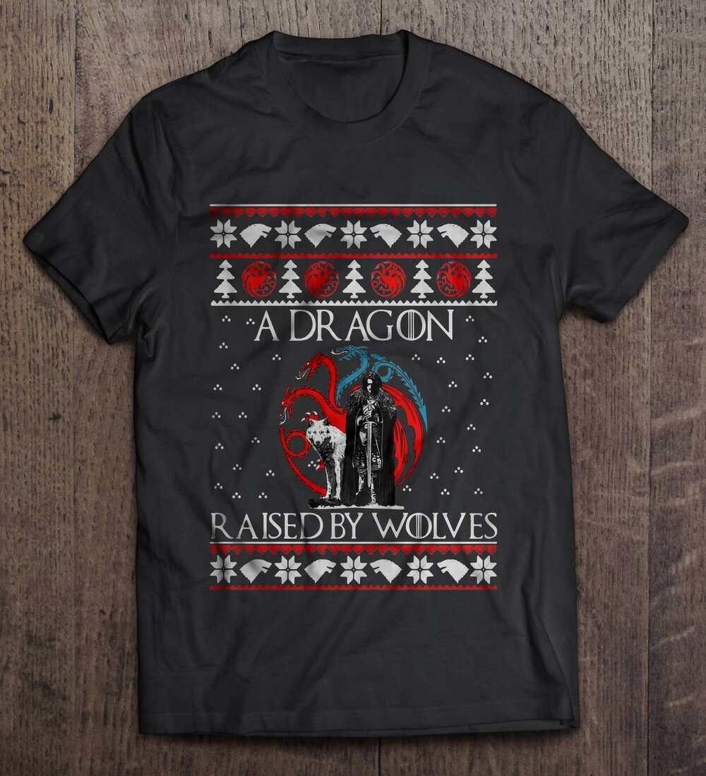 A Dragon Raised By Wolves Game Of Thrones Christmas Sweater
